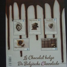 Sellos: BELGICA AÑO 2013. HOJA BLOQUE CHOCOLATE BELGA. Lote 38505676