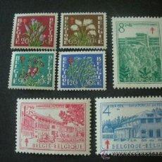 Sellos: BELGICA 1950 IVERT 834/40 *** PRO ANTITUBERCULOSIS - FLORA - FLORES DIVERSAS Y MONUMENTOS. Lote 39045483