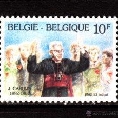 Sellos: BELGICA 2068** - AÑO 1982 - CENTENARIO DEL NACIMIENTO DEL CARDENAL CARDIJN. Lote 179338873