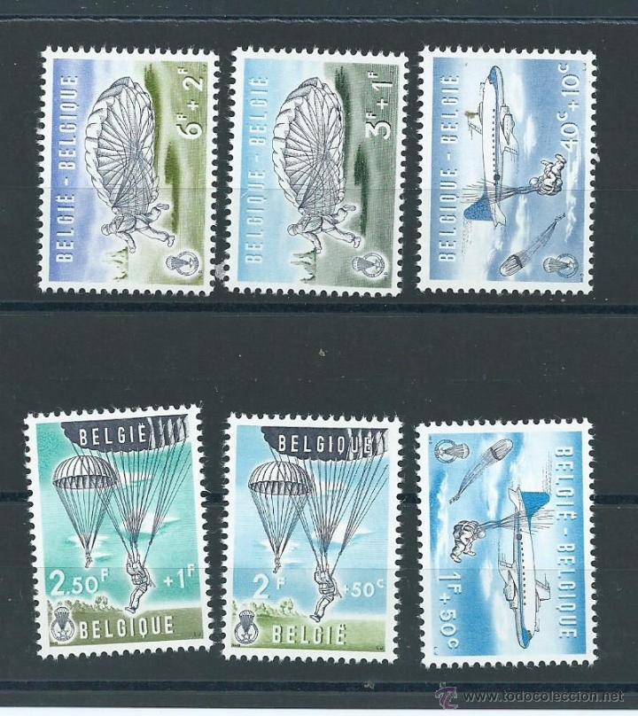 SERIE PARACHUTISME... DE BELGICA, AÑO 1960, Nº 1133/38, NUEVOS** S/F, CAT. 25 EUROS (Sellos - Extranjero - Europa - Bélgica)