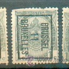 Sellos: BÉLGICA .- PREFRANQUEADOS DE BRUSELAS DE 1909, 1911 Y 1912. Lote 40684007
