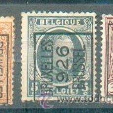 Sellos: BÉLGICA .- PREFRANQUEADOS DE 1922, 1926 Y 1930 DE BRUSELAS. Lote 40684056