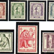 Sellos: BÉLGICA.- YVERT Nº 998/1004, SERIE COMPLETA EN NUEVOS SIN SEÑAL DE FIJASELLOS. Lote 40857164