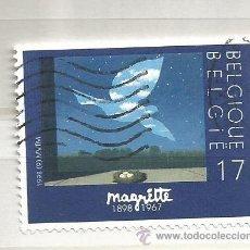 Sellos: BÉLGICA 1998. PINTURA, RENÉ MARGRITTE. Lote 40898932
