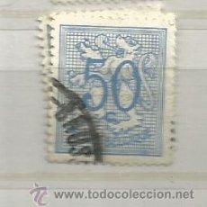 Sellos: BÉLGICA 1951. BÁSICO, LEÓN HERALDICO, 50 CÉNTIMOS AZUL CLARO. Lote 242995960