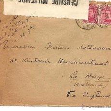 Sellos: SOBRE CIRCULADO AÑO 1915 CON CENSURA MILITAR PRIMERA GUERRA MUNIDAL. Lote 42211406
