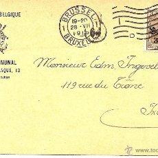 Sellos: CARTA POSTAL CIRCULADA AÑO 1916 -ROYAUME DE BELGIQUE CRÉDIT COMMUMA, BRUSELAS. Lote 42441907