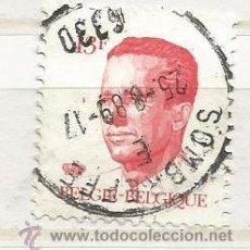 Sellos: BÉGICA 1986. REY BALDUINO. 13 FRANCOS ROJO. Lote 52589226