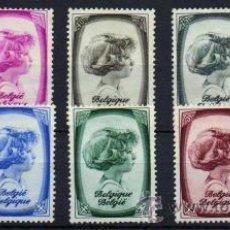 Sellos: BELGICA, BELGIQUE, BELGIUM YVERT 488/95* VC 25,00€. Lote 47101399