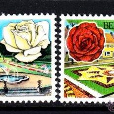 Sellos: BELGICA 1501/02** - AÑO 1969 - JARDINES BELGAS - FLORA - FLORES - ROSAS. Lote 47771099