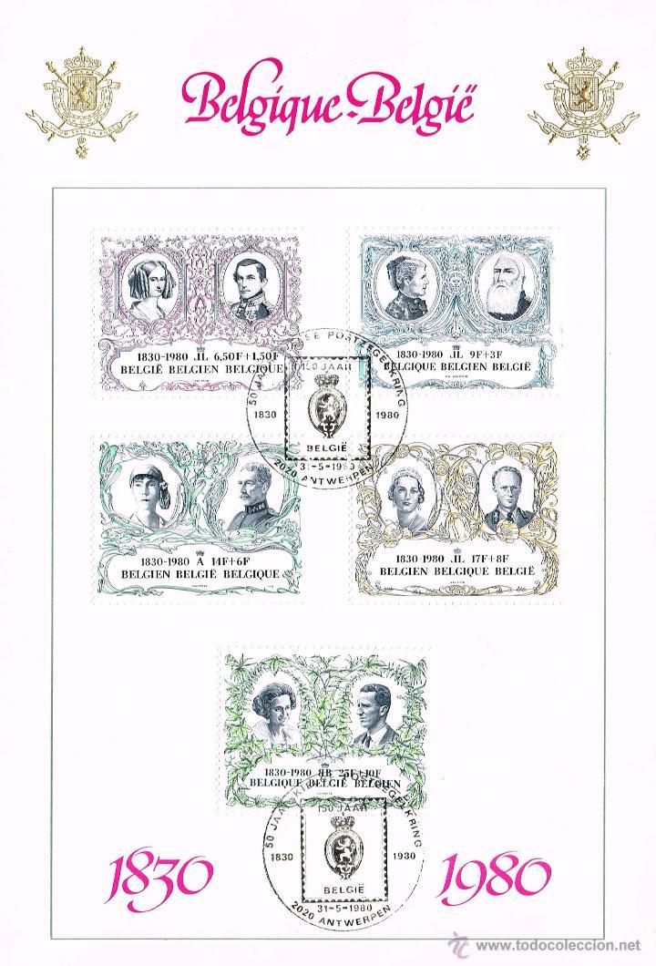 CASAS REALES. BÉLGICA 1980. 150 ANIVERSARIO DE LA INDEPENDENCIA (Sellos - Extranjero - Europa - Bélgica)