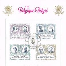 Sellos: CASAS REALES. BÉLGICA 1980. 150 ANIVERSARIO DE LA INDEPENDENCIA. Lote 48650678