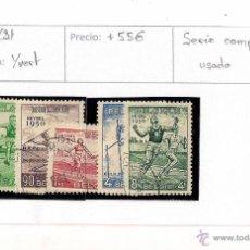 Sellos: 1950 - CAMPEONATO DE EUROPA DE ATLETISMO EN HEYSEL (BELGICA). Lote 48757857