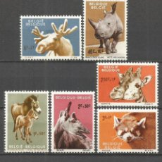 Sellos: BELGICA ANIMALES FAUNA YVERT NUM. 1182/1187 * SERIE COMPLETA CON FIJASELLOS. Lote 49740115