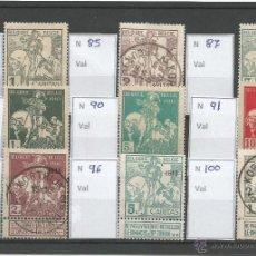 Sellos: 1910-11 - LOTE DE SELLOS CLASICOS - BELGICA. Lote 50213996