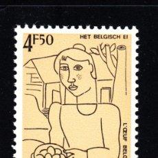 Sellos: BELGICA 1863** - AÑO 1977 - PINTURA - OBRA DE GUSTAVE DE SMET. Lote 50604973