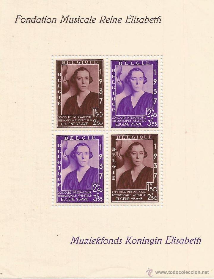 BELGICA 1937 HOJA BLOQUE (Sellos - Extranjero - Europa - Bélgica)