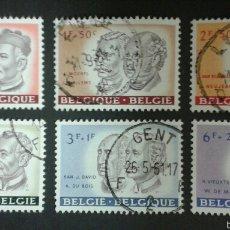 Sellos: SELLOS BÉLGICA. YVERT 1176/81. SERIE COMPLETA USADA. . Lote 54480638