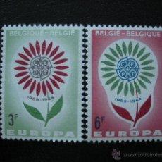 Sellos: BELGICA 1964 IVERT 1298/9 *** EUROPA. Lote 54636415
