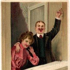 Sellos: POSTAL CIRCULADA BRUSELAS AÑO 1909 - SELLO VALOR 5 CÉNTIMOS BELGAS EMISIÓN 1905. Lote 56148272