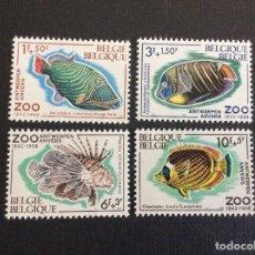 Sellos: BELGICA Nº YVERT 1470/3*** AÑO 1968.PECES. 125 ANIVERSARIO ZOO DE AMBERES. Lote 266804049