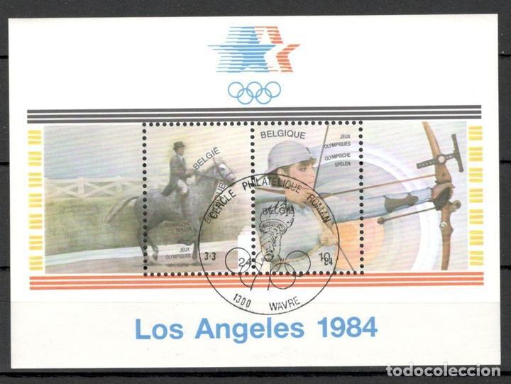 BELGICA. 1984. OLIMPIADA DE LOS ANGELES. HOJAS DE BLOQUE. (Sellos - Extranjero - Europa - Bélgica)