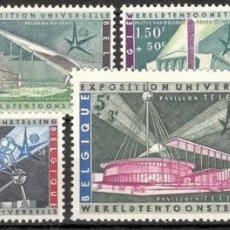 Sellos: BELGICA. EXPOSICIÓN UNIVERSAL DE BRUSELAS. 1958. MNH**. SERIE COMPLETA.. Lote 70348650