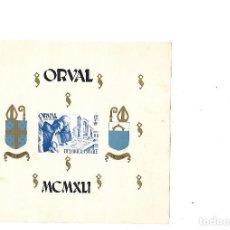 Sellos: BELGICA 1941 HOJA BLOQUE A BENEFICIO DE LA RECONSTRUCCION DE LA ABADIA DE ORVAL. Lote 83366380