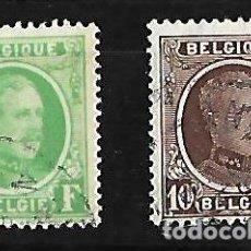 Sellos: BELGICA 1921-27 EFIGIE DE ALBERTO I 2 FINALES DE SERIE . Lote 84180752