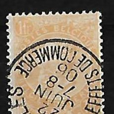 Sellos: BÉLGICA 1893-1900 EFIGIE DE LEOPOLDO II USADO. YVERT 65. . Lote 84428068