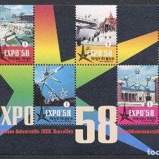 Sellos: BELGICA - 50 ANIV. EXPO DE 1958 EN BRUSELAS - HB (2008) **. Lote 86284028