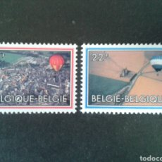 Sellos: BÉLGICA. YVERT 2094/5. SERIE COMPLETA NUEVA SIN CHARNELA. GLOBOS. Lote 89531186