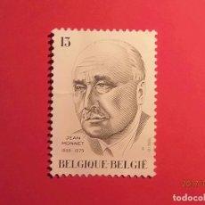 Sellos: BELGICA - JEAN MONNET - PADRE DE EUROPA.. Lote 98962331