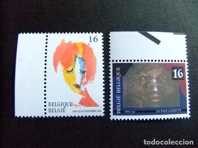 BELGICA BELGIQUE BELGIË 1994 OBRA DE PINTORES CONTEMPORÁNEOS YVERT 2535 / 2536 ** MNH (Sellos - Extranjero - Europa - Bélgica)