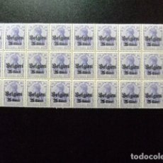 Sellos: BELGICA OCUPACION ALEMANA 1914 TIMBRES D´ALLEMAGNE YVERT 4 ** MNH FEUILLE 26 SELLOS. Lote 100777347