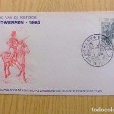 Sellos: BELGICA BELGIQUE BELGIË FDC 1964 / DAG VAN DE POSTZEGEL / DIA DEL SELLO / COB Nº 1284 . Lote 100964767