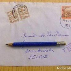 Sellos: CARTA DE AUSTRIA A BELGICA 25-3-92 CON 20 FRANCOS DE TAX POR FALTA DE FRANQUEO. Lote 101101475