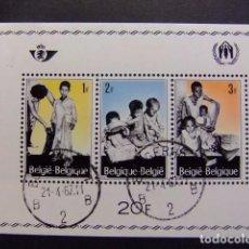 Sellos: BELGICA BELGIQUE 1967 YVERT N BLOC 43 FU. Lote 101987119