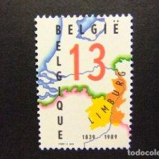 Sellos: BELGICA BELGIQUE 1989 CARTE DES DEUX LIMBOURG YVERT N 2338 ** MNH. Lote 102034227