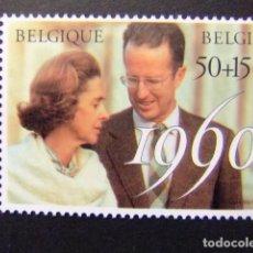 Sellos: BELGICA BELGIQUE 1990 ROI ET REINE DES BELGES YVERT N 2396 ** MNH. Lote 102115911