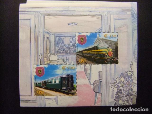 Sellos: BELGICA BELGIQUE 2003 TRENES REALES TRAINS ROYAUX Yvert BLOC 3 / 4 ** MNH - Foto 2 - 110277331