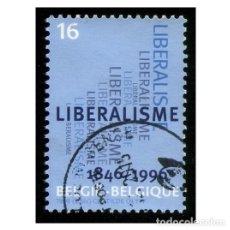 Sellos: BÉLGICA 1996. MICHEL 2680, YVERT 2627. PARTIDO LIBERAL. POLÍTICA. USADO. Lote 110584771