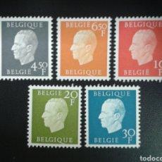 Sellos: BÉLGICA. YVERT 1806/10. SERIE COMPLETA NUEVA SIN CHARNELA. REYES BELGAS. REY BALDUINO.. Lote 114951078