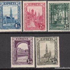 Sellos: BÉLGICA , EXPRESO 1929 YVERT Nº 1 / 5 / * / . Lote 117870611
