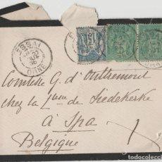 Sellos: SOBRE SELLOS FRANCIA 1896. Lote 119305471