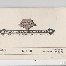 Sellos: ANTIGUA TARJETA VISITA REPUESTOS ASTURIAS GIJON. Lote 119306443