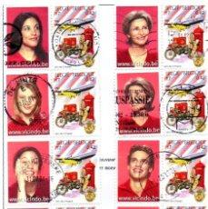 Sellos: BÉLGICA.- SELLOS DEL AÑO 2001, SERIE COMPLETA, EN USADO. Lote 121336971
