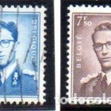 Sellos: BÉLGICA.- SELLOS DE LA SERIE REY BALDUINO 1953-66, EN USADOS. Lote 125060327