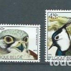 Sellos: BÉLGICA,1972,PÁJAROS,SOLIDARIDAD,NUEVOS,MNH**,YVERT 1644-1647. Lote 125248415