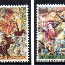 Timbres: BÉLGICA.- SELLOS DEL AÑO 1967, SERIE COMPLETA, EN NUEVO. Lote 125830643
